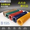 黄蓝红绿棕色合金钢材质弹簧 大连泰维扁线弹簧厂家直销
